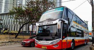 ibistrans.com sewa bus pariwisata foto bus tingkat PO Harapan Jaya