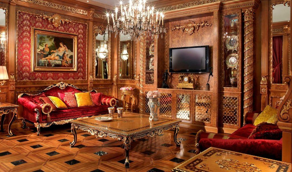 ruang tamu mewah dan klasik